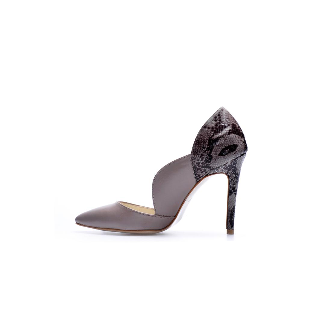 Vizon Baskılı Deri Ayakkabı