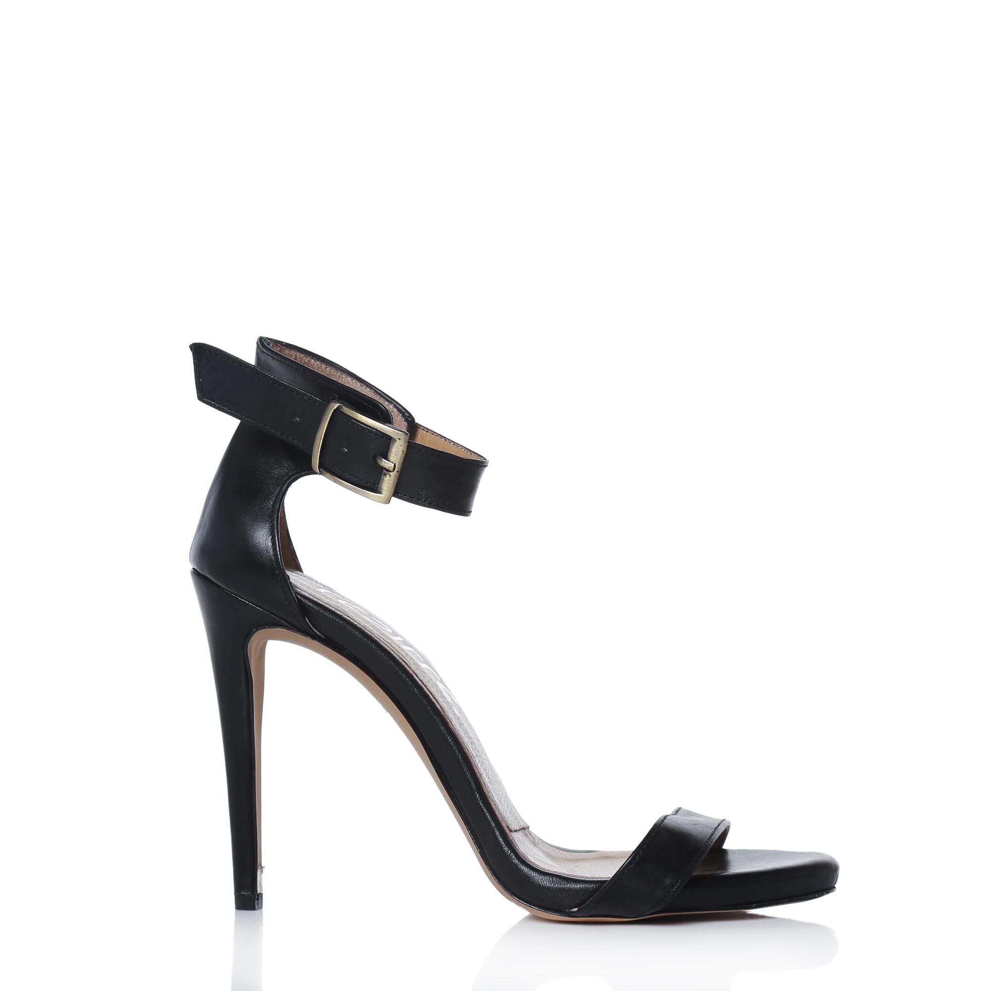 Siyah Bantlı Deri Ayakkabı